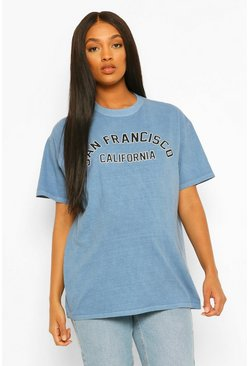 Blue Maternity San Fransisco Washed T-shirt