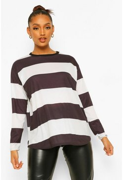 Black Maternity Stripe Long Sleeve T-shirt