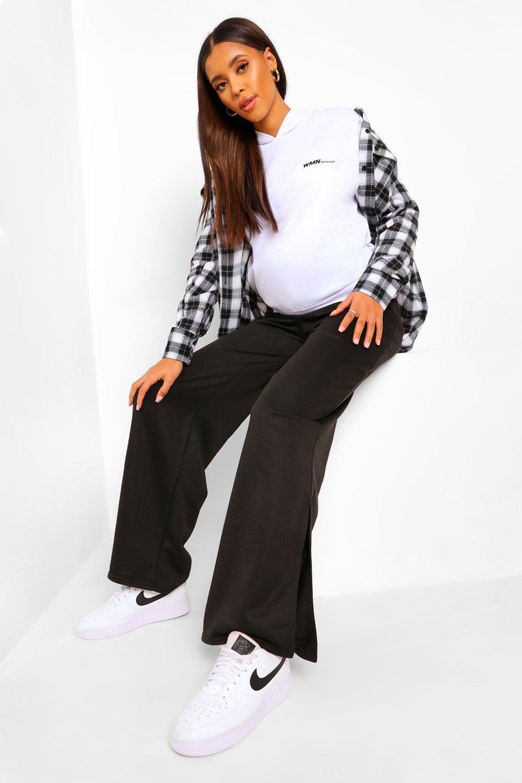 Joggers Maternity Wide Leg Split Hem Jogger