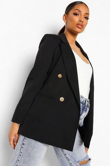 Black Maternity Oversized Blazer