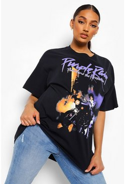 Black Maternity Purple Rain Licence T-shirt