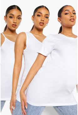 White Maternity 3 Pack T-shirt, Vest & Cami