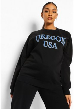 Black Maternity Oregon Sweatshirt