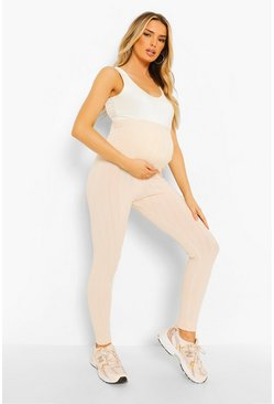 Rose pink Maternity Crinkle Rib Over Bump Legging