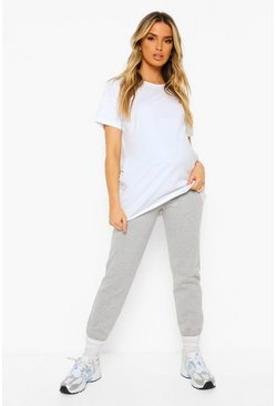 Maternity Under The Bump Jogger, Grey marl gris