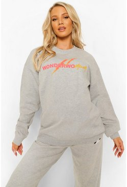 Maternité - Sweat Wonderwomum, Grey gris