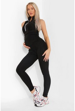 Black Maternity Supportive Active Leggings