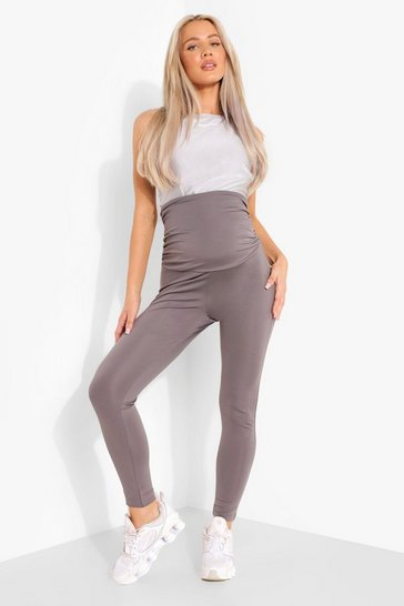 Grey Maternity Supportive Active Leggings