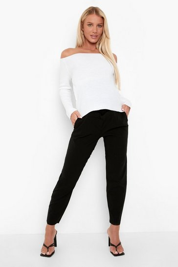Black Maternity Super Stretch Fitted Trousers