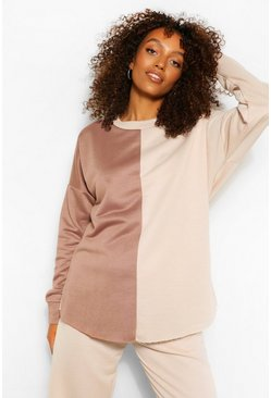 Ecru Maternity Colour Block Sweatshirt