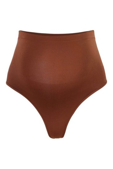 Chestnut brown Maternity Seamless Over The Bump Thong