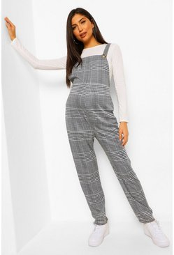 Multi Maternity Check Jersey Dungaree