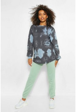Dove grey Maternity Tie Dye Sweat Top