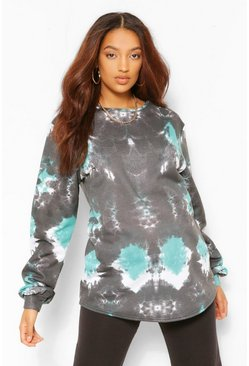 Emerald green Maternity Tie Dye Sweat Top