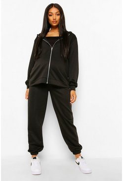 Black Maternity 3 Pc Hoody Lounge Set