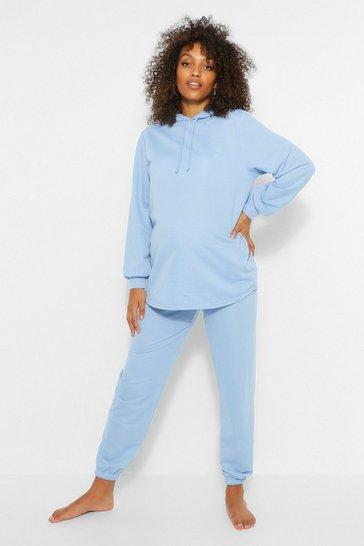Dove grey Grey Maternity Hoody And Jogger Loungewear Set