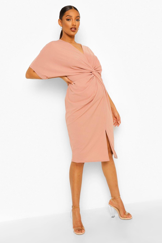 Maternity Dresses Maternity Twist Front Midi Dress