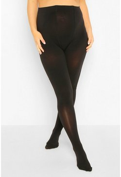 Black Maternity 2 Pack 200 Denier Tights