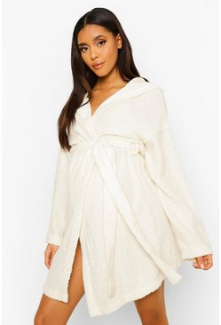 Cream Maternity Momma Bear Embroidered Dressing Gown