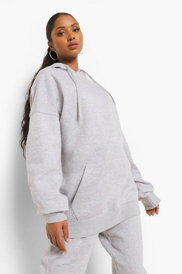 Grey marl grey Grey Maternity Oversized Pocket Front Hoody