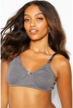 Charcoal grey Maternity Tshirt Nursing Bra