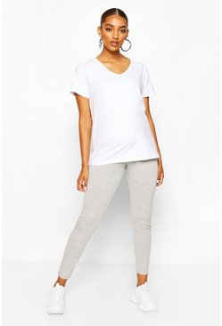 Grey Maternity Over The Bump Legging