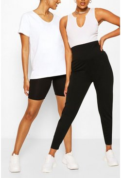 Black Maternity Cycling Short & Legging Pack