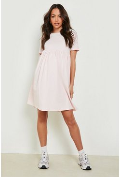 Blush Maternity Crew Neck Smock Dress
