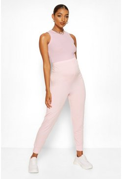 Pale pink Maternity Loopback Jogger