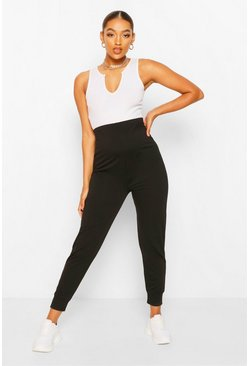 Black Maternity Loopback Jogger