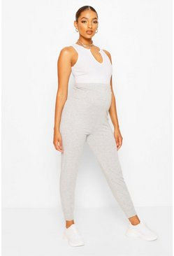 Grey marl Maternity Loopback Jogger