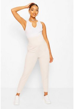 Stone beige Maternity Loopback Jogger