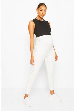 White Maternity Loopback Jogger