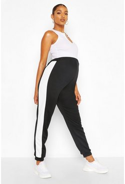 Black Maternity Side Panel Jogger