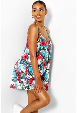 Multi Maternity Floral Swing Playsuit