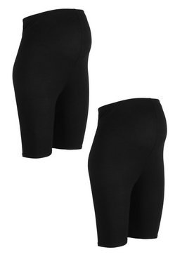 Black Maternity 2 pck Cycling Short