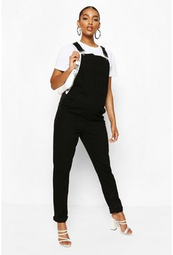 Black Maternity Denim Dungaree
