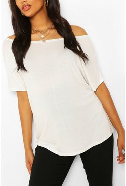 Ivory Maternity Off Shoulder T-shirt
