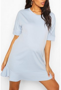 Blue Maternity Tunic Dress