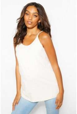Stone beige Maternity Strappy Camisole