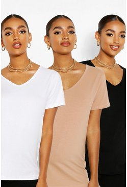 Multi Maternity 3 Pack V-neck T-shirt