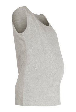 Grey marl Maternity Scoop Neck Vest