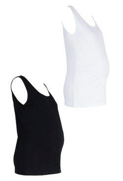 Multi Maternity 2 Pack Scoop Neck Vest