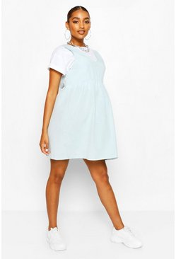 Sky Maternity Linen Smock Pinafore Dress