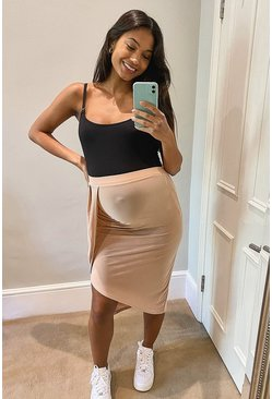 Maternity Wrap Skirt, Rose