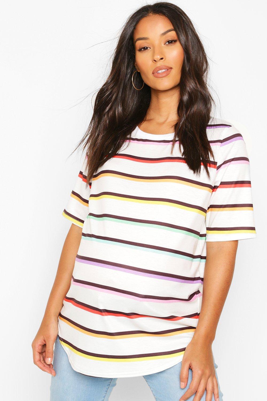 Maternity Clothing Maternity Rainbow Stripe T-Shirt