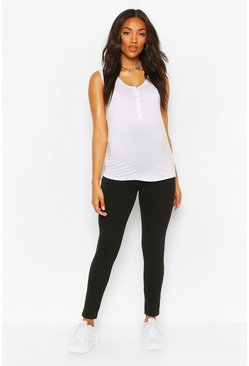 Black Maternity Over The Bump Legging