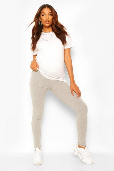 Grey marl grey Maternity Over The Bump Legging
