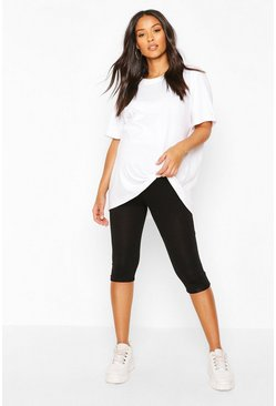 Black Maternity Longline Cycling Short