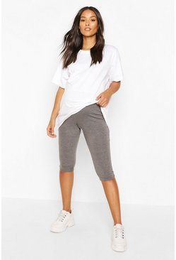Charcoal grey Maternity Longline Cycling Short